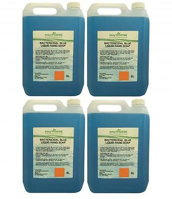 4 x BLUE 5L Antibacterial Bactericidal Liquid Antibac Luxury Hand Soap 20 Litre