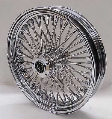 DNA 18x3.5 CHROME REAR MAMMOTH 52 FAT SPOKE WHEEL FOR 02-07 TOURING HARLEY
