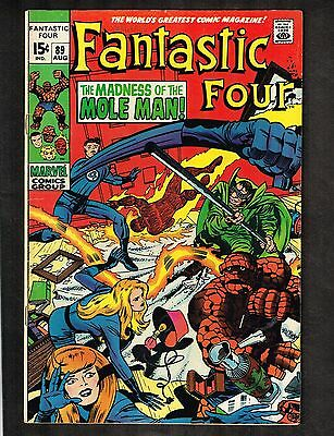 Fantastic Four #89 ~ Madness of the Mole Man ~ 1969 (5.0) WH