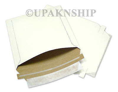 200 6x6 Rigid Photo CD Disk Corrugated Mailers Paperboard Envelopes Bend Recycle