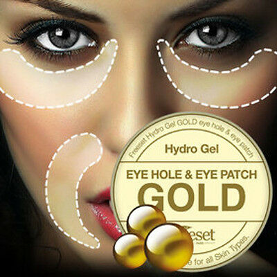 GOLD HYDRO GEL  EYE+Nasolabial Folds Laugh Lines PATCHES 120p GOLD eye patches