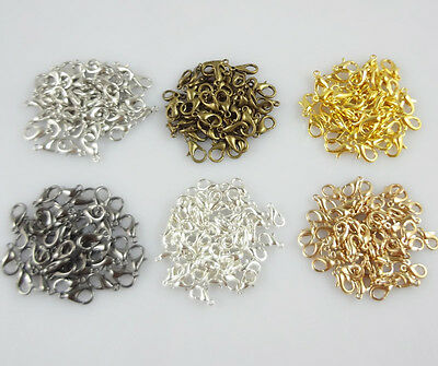 Hot 50pcs Pear Lobster Clasp Connector Ring End Hook Buckle Jewelry Findings DIY