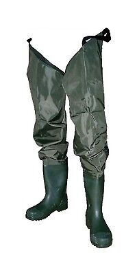 Size 7 Wildfish Thigh Wader-Tough Nylon/PVC Wader with Adjustable Thigh Straps