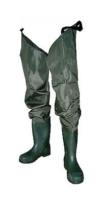 Size 10 Wildfish Thigh Wader-Tough Nylon/PVC Wader with Adjustable Thigh Straps