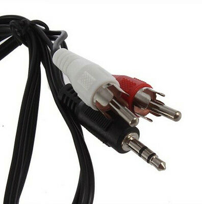 """3.5mm 1/8"""" Male Stereo Mini Plug Jack TO 2 RCA Stereo Phone Audio Speaker Cable"""