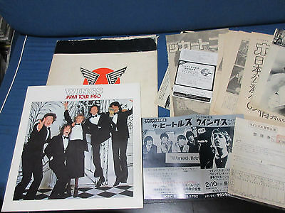 Paul McCartney and Wings Cancelled 1980 Japan Tour Book Numbered Ticket Beatles