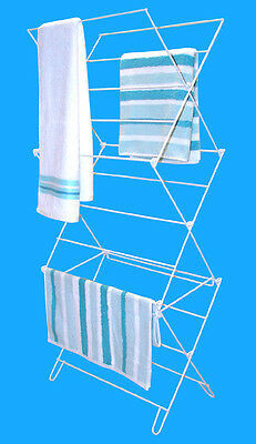 Folding Clothes Airer Concertina Dryer Horse Laundry Towel Clothing 3 Tier 8M