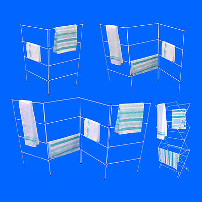 Folding Airer Clothes Dry Horse Rack Laundry Dryer 2 3 4 Fold Concertina Airer