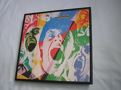 UFO Strangers LP cover framed for wall mounting black/silver/walnut