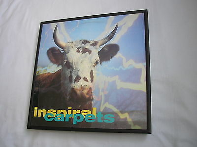 """INSPIAL CARPETS She Comes 12"""" cover framed for wall mounting black/silver/walnut"""