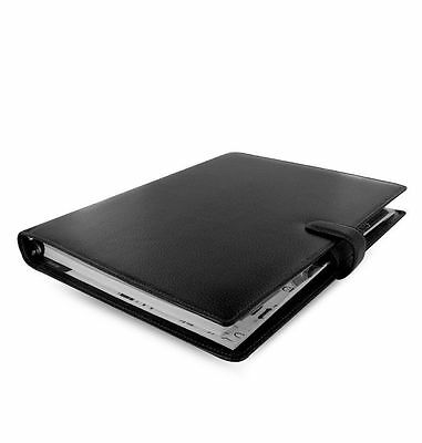 Filofax A4 Finsbury Black Leather Personal Organiser Diary- 025321