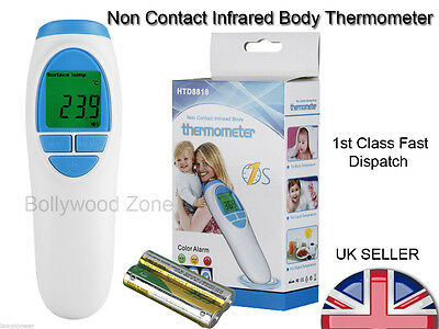 New Digital LCD Baby Non Contact Infrared Body Thermometer Colour Alarm