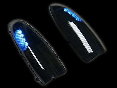 Vms 03-07 Ford F250 F350 Superduty Side Mirror White Led Lights Smoked Lens
