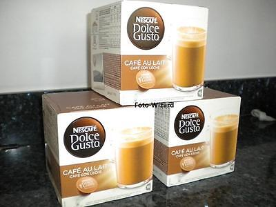 Nescafe Dolce Gusto 48 Cafe Au Lait Pods 3 Packs Of 16 Cafe Con Leche