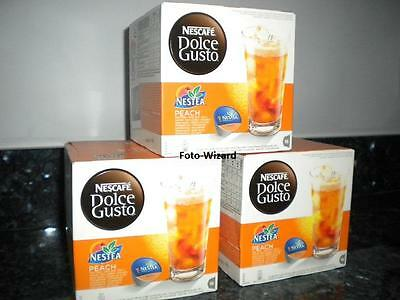 Nescafe Dolce Gusto 48 Nestea Peach Tea Pods 3 X 16 New