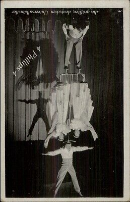 Circus German Acrobats - 4 Phillips 4 - Postcard