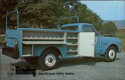 1950s-60s Chevrolet Truck Reading Job-Planned Utility Body Postcard