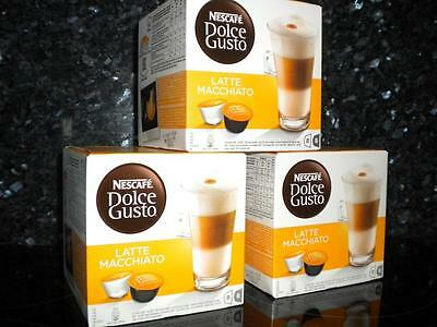 Dolce Gusto 48 Latte Macchiato Pods 3 X 16 Coffee New