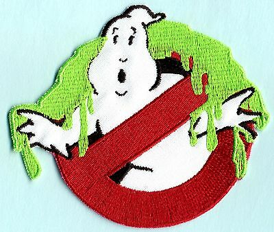 Adult Sized SLIMED Ghostbusters No Ghost Embroidered Patch  with Iron-On backing