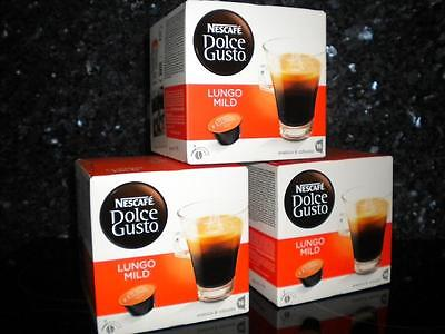 Dolce Gusto 48 Caffe Lungo Mild Pods 3 X 16 New Coffee