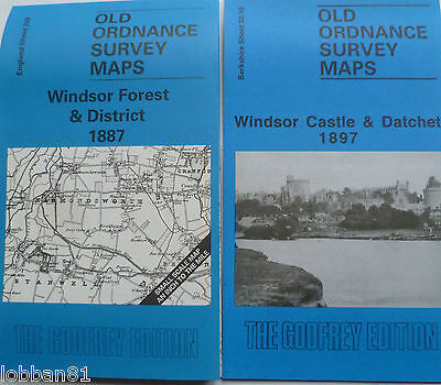 Old Ordnance Survey Map Windsor Castle Datchet & Windsor Forest Area 1887/1897