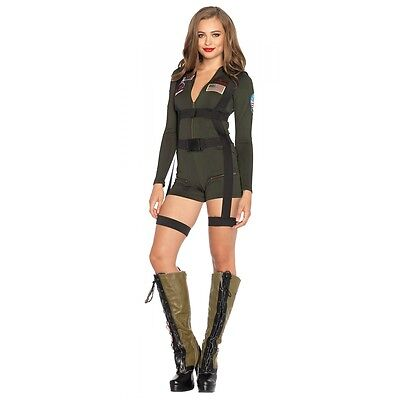 Top Gun Costume Women Adult Halloween Fancy Dress