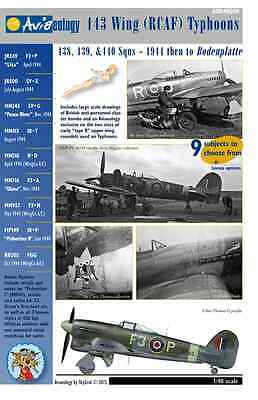 RCAF Typhoons - 1944 to Bodenplatte – 1/48 scale Aviaeology Decals 'n Docs