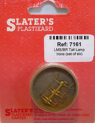 Slaters 7161 - 7mm (0) - 6 x LMS/BR Tail Lamp Irons Cast Brass - 1st Class Post