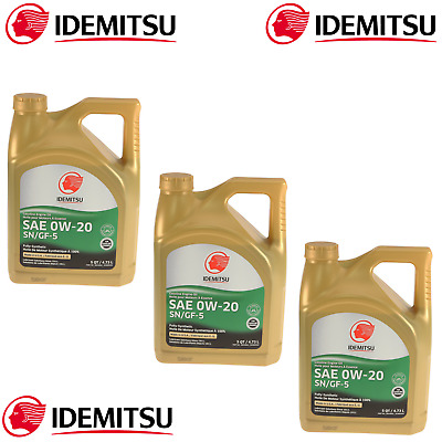 3 Gallons 0W-20 Full Synthetic Engine Motor Oil For Acura Honda Mazda Mitsubishi