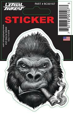 LETHAL THREAT Motorcycle Scooter Bike Decal Helmet Mini Sticker GORILLA RC00107