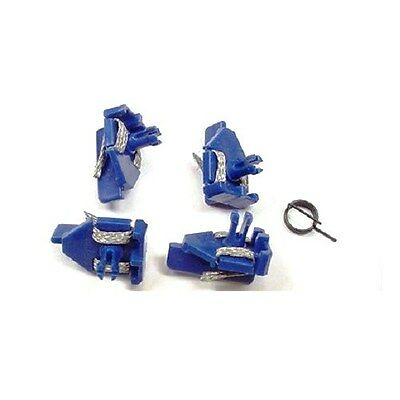 Scalextric C8145 (4) Short stem Blue Pick-up guides & braids