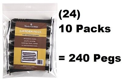 (24) MG 805-CS 10 Packs Plastic Landscape Fabric Weed Barrier Hold Down Pegs
