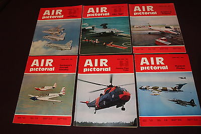 (E1B) 12 Vintage Aviation Magazines Air Pictorial 1972