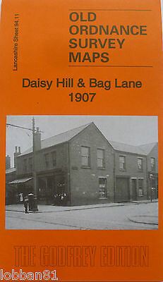 Old Ordnance Survey  Maps Daisy Hill & Bag Lane Lancashire 1907 Godfrey Edition