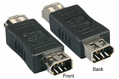 Firewire IEEE 1394a 6 Pin F/F Female to Female Converter Adapter Gender Changer