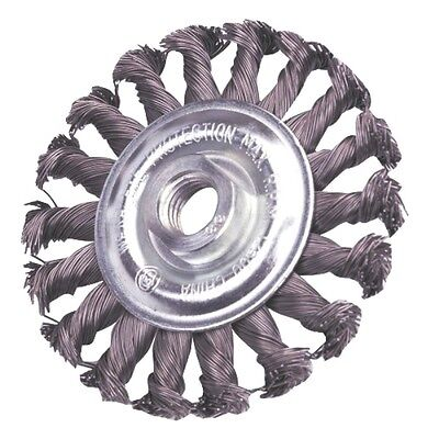 """4"""" X 9/16"""" Threaded Knot Wire Wheel Brush - FINE Knotted Wheel Grinders & Drills"""