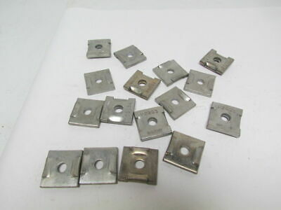 "Unistrut P2863 3/8"" Square Washers Dimpled Lot of 16"