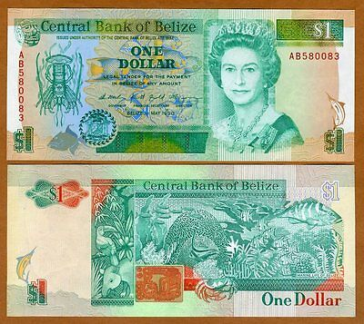 Belize, 1 Dollar, 1990, QEII, Pick 51, UNC > Obsolete Denom