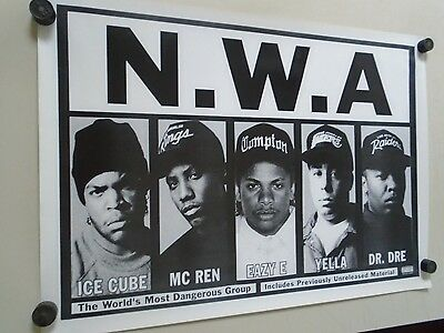 """NWA / Original  promo Poster - B&W - Exc. new cond. / size approx. 25x35"""""""