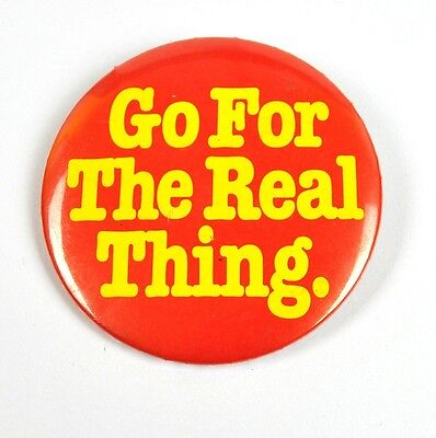 Coca Cola Coke USA Pin Button Badge Anstecknadel - Go For The Real Thing