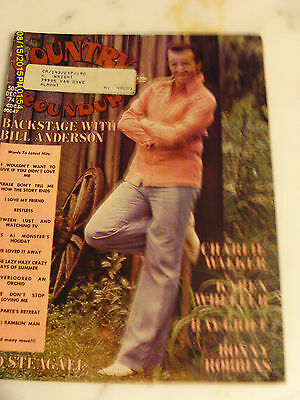 Bill Anderson Covers Country Song Roundup Magazine December 1974 Charlie Walker