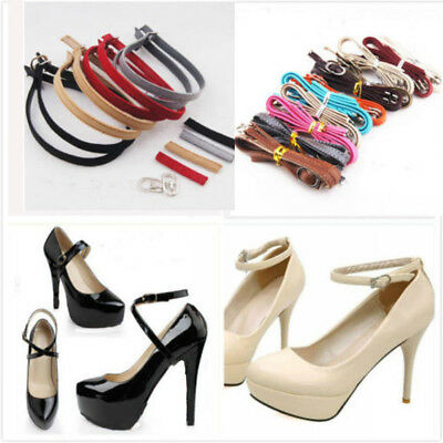 AU Leather Shoe Straps Weave Tape Laces Band for Holding Loose High Heeled Shoes