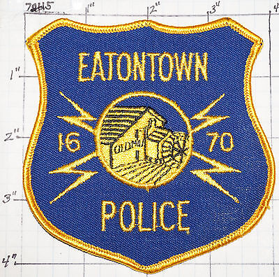 New Jersey, Eatontown Police Dept Patch