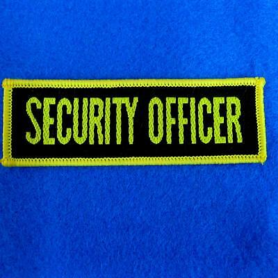 Police Army Security Officer Sew on Patch Applique Badge Embroidered Biker Motor
