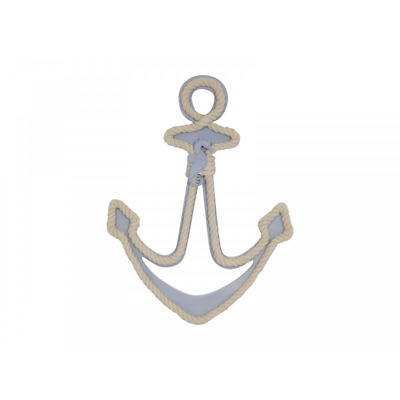 1pce 36CM Beach Art Anchor with rope boarder detail and a Seahorse Motif Hanging