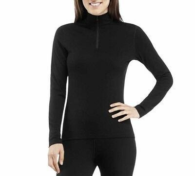 Icebreaker Oasis Long Sleeve Half Zip Women Damen-Funktionsshirt schwarz, M/L/XL