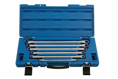 BRAND NEW! EXTRA LONG RING SPANNER WRENCH SET 6pce + STORAGE CASE 8 - 19mm