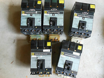 Square D FA34020 3pole 20amp 480v circuit breaker ILine 1 year Warranty!