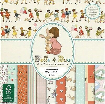 Dovecraft Belle & Boo Papier 6 X 6 Muster Packung Je 1 Design - 12 Sheets