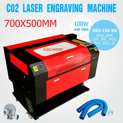 UK 100W CO2 Laser Engraving Cutting Machine Engraver Cutter USB Port CE FDA